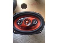 Two Edge 6x9 4 way 300watt car speakers