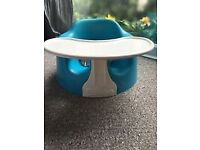 Blue Childs bumbo seat and tray