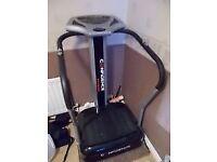 Confidence vibration plate exercise machine