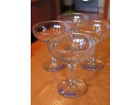 Babycham Glasses FOUR ORIGINALS