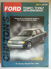 chiltons manual ford tempo and topaz 84 to 94