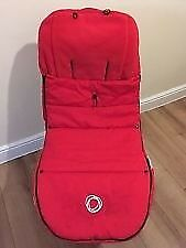 Bugaboo universal footmuff in red (velcro )