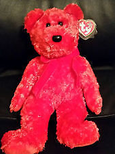 Sizzle the red hot bear Ty Beanie Buddy stuffed animal