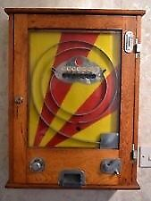 old vintage penny slot arcade machine