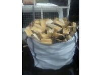 ONE TON BAGS OF SEASONED LOGS FREE DELIVERY WITHIN 10 MILES OF WOKING FROM £69.95 TWO FROM £130.00
