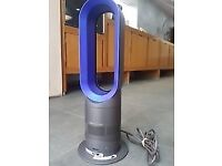 Dyson AM05 hot + cool bladeless tower fan / heater Iron/Blue + Remote control