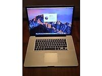 "17"" Macbook Pro Late 2011 mint condition i7 processor 8gb RAM 750gb HD"
