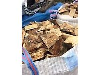 6 cubic metre bags of softwood logs