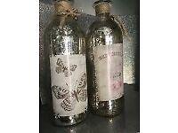 Shabby Chic Mercury Glass Bottles: Brand New