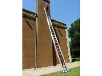 Youngman Trade combo 100 2.5m - 5.7m Triple Aluminium Ladder Extension Rung 3 very strong with