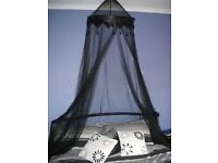 Black over bed canopy to clear bargain £6