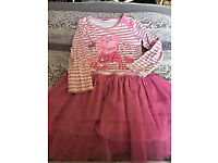 GORGEOUS PEPPA PIG GIRLS CHRISTMAS PARTY DRESS AGE 3 - 4 YEARS