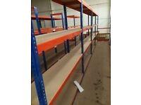 JOB LOT 10 bays of Rapid 1 industrial longspan shelving 2.4m high !( pallet racking , storage )
