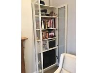2 White glass Doors for Ikea Billy Bookcase