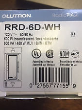 THERMOSTAT-DIMMER LUTRON RRD-6D-WH