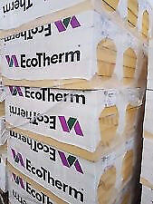 Insulation boards. 100mm thick 2400 x 1200 sheets. ECO THERM similar to celotex, kingspan, recticel
