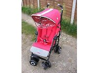 Maclaren Techno XT Stroller Red and Silver Rain Covers Included