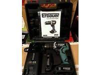 18v Erbaur combi drill (like new)