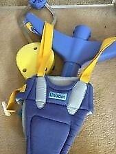 Baby purple and yellow GRACO door bouncer