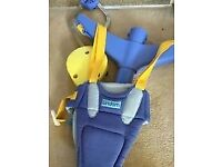 Baby purple and yellow GRACO door bouncer