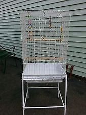 Large bird cage with extras