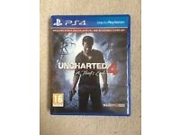 Uncharted 4 on PS4 For Sale In Mint Condition Just £30.