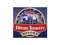 2 X Alton Towers Tikets for saturday 1st september
