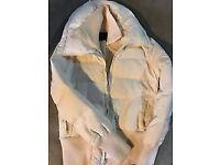 White BCBGMAXAZRIA ladies puffer JACKET size L (£40 ONO)