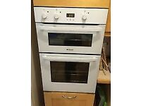 HOTPOINT White Double INTEGRATED Electric Oven *NEW EX-DIS* -NEW