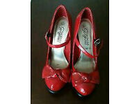 Red patent New Look shoes size 6