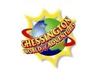2 TICKETS TO CHESSINGTON WORLD OF ADVENTURES ON 13/5/2017