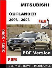 mitsubishi outlander 2004 service manual