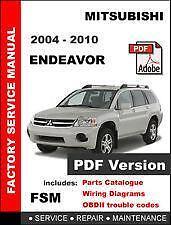 2004 2010 mitsubishi endeavor workshop service repair manual