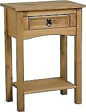 New Solid Corona Mexican Pine 1 drawer hall telephone table Only £39 get yours today
