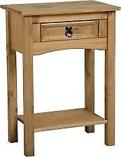 New Solid Corona Mexican Pine 1 drawer hall telephone table Only £29 get yours today