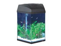Fish 'R' Fun Hexagonal Tank 21.6Ltr Black