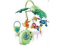 Fisher Price Rainforest Peek-a-Boo Leaves Musical cot baby Mobile