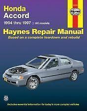 Honda Accord Repair Manual | eBay
