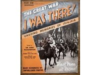 'The Great War - I Was There' - 40 Vintage magazines from 1938/1939