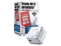 devolo dLAN 500 Wi-Fi Add-On Powerline Adapter Signal Booster Range Extender