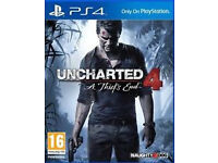 uncharted 4 a thiefs end still as new condition mature owner playstation 4
