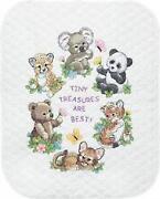 Stamped Cross Stitch Baby Quilt