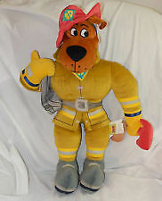 ▀▄▀NEW-Scooby-Doo Huge Firefighter Plush Toy&Book With DVD