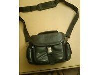 Genuine leather camcorder/camera case