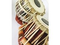 Indian tabla dayan and bayan drum set with traditional covers