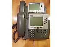 Cisco CP-7940G VoIP PoE Phone Handsets (lots of x10)
