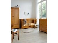 Mama's and Papa's Ocean Range Nursery Furniture. Cot Bed, Changing Station and Tall Boy Drawers