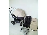 Bugaboo Cameleon 3 with off white hood and footmuff