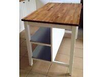 Ikea Stenstorp-Kitchen Island-White/Oak-Ex Condition
