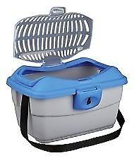 Small pet carrier - 40 × 22 × 30 cm Light Grey/Blue